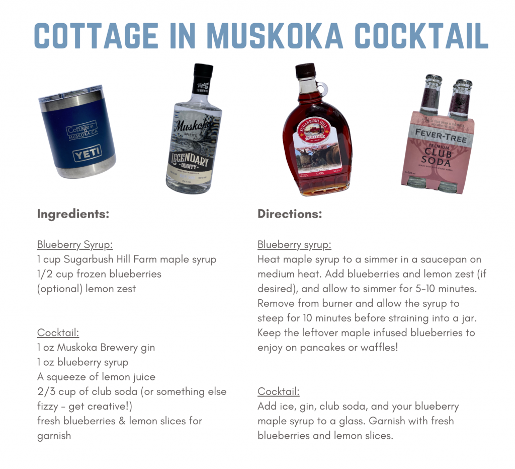 Recipe for Cottage in Muskoka Cocktail